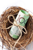 Superannuation Money Nest Business Stock Photos