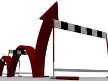 Superare le barriere difficili Immagini Stock Libere da Diritti