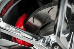 Superauto-Bremsen stockbilder