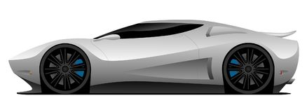 Superauto-Vektor-Illustration lizenzfreie stockfotos