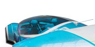 Superauto von der Zukunft keine Marke in einem wei?en Hintergrund vektor abbildung