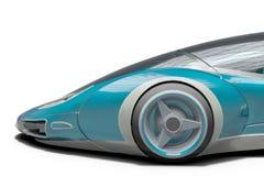 Superauto von der Zukunft keine Marke in einem wei?en Hintergrund lizenzfreie abbildung