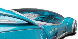 Superauto von der Zukunft keine Marke in einem wei?en Hintergrund stock abbildung
