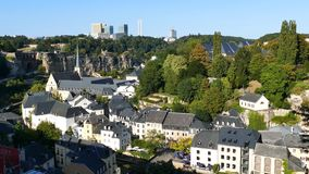 Superb aerial view from Cite Judiciaire. 4K Video of Superb aerial view from Cite Judiciaire, Luxembourg stock video footage