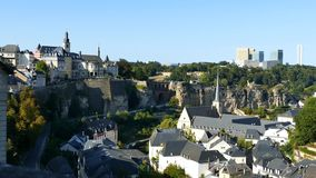 Superb aerial view from Cite Judiciaire. 4K Video of Superb aerial view from Cite Judiciaire, Luxembourg stock footage