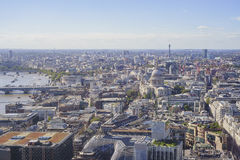 Superb aerial view from Sky Garden Stock Photos