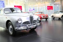 A superb Alfa Romeo 1900 model on display at The Historical Museum Alfa Romeo. Arese, Italy - A superb Alfa Romeo 1900 model on display at The Historical Museum royalty free stock image