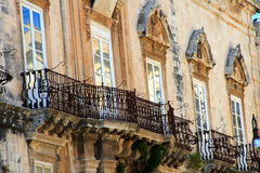 Superb Balconies Royalty Free Stock Photography