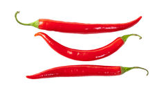 Superb beautiful red hot pepper. On a white background royalty free stock photo
