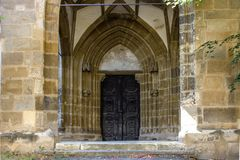 A superb gothic entrance. Wall Royalty Free Stock Photos