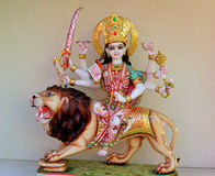 Superb Marble carved statue of  Goddess Durga Royalty Free Stock Photo