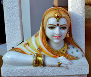 Superb Marble carved statue of woman Royalty Free Stock Images