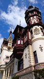 Superb Peles castle, Romania -architectural details Stock Photography