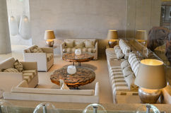Superb relaxation lounge design decoration in a luxury hotel Royalty Free Stock Photography