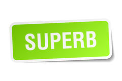 Superb square sticker. On white Stock Photo