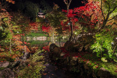 Superb view, fall color at Eikando Zenrinji, Japan in the autumn Royalty Free Stock Photography