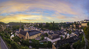 The superb view of the Grund, Luxembourg Stock Photography