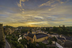 The superb view of the Grund, Luxembourg Stock Images