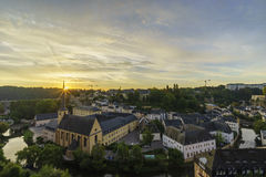 The superb view of the Grund, Luxembourg Royalty Free Stock Photography