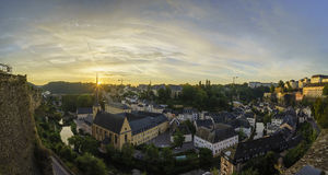The superb view of the Grund, Luxembourg Royalty Free Stock Photo