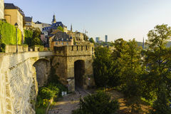 The superb view of the Grund, Luxembourg Royalty Free Stock Photos