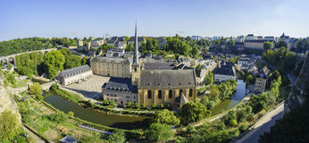 The superb view of the Grund, Luxembourg Royalty Free Stock Images