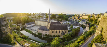 The superb view of the Grund, Luxembourg Stock Photos