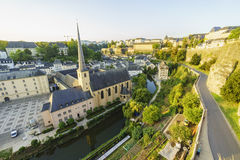The superb view of the Grund, Luxembourg Stock Image