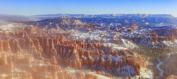 Superb view of Inspiration Point of Bryce Canyon National Park. At Utah royalty free stock photography