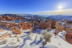 Superb view of Sunset Point, Bryce Canyon National Park Royalty Free Stock Photos