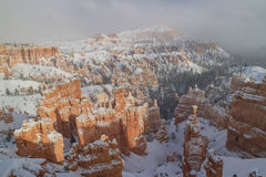 Superb view of Sunset Point of Bryce Canyon National Park Royalty Free Stock Photography