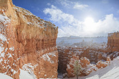 Superb view of Sunset Point of Bryce Canyon National Park Royalty Free Stock Photo
