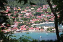 A superb view to the Bay of the Saintes in Guadeloupe royalty free stock photos