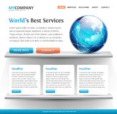 Superb web site design template Royalty Free Stock Images