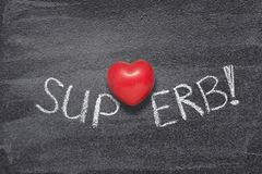 Superb word heart stock photography