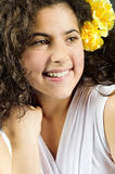 Superb young girl smiling Royalty Free Stock Photos