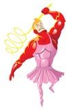 Superballerina illustrazione di stock