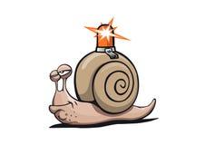 Superbe-escargot avec le radiophare illustration libre de droits