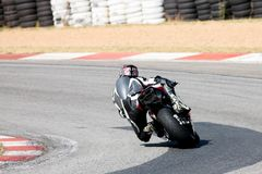 Superbike #1. High speed Superbike on the circuit ? Kyalami, South Africa. Movement on elements of the image stock photos
