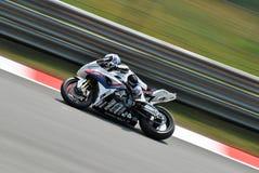 Superbike BMW Motorrad Italia Ayrton Badovini fotografia stock