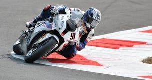 Superbike BMW Motorrad Motorsport Leon Haslam Stock Afbeeldingen