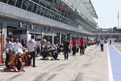 Superbike box at Monza royalty free stock photography
