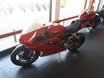 Superbike del deporte de la motocicleta de Ducati fotos de archivo libres de regalías