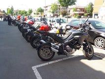 Superbike del deporte de la motocicleta de Ducati foto de archivo