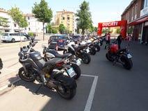 Superbike del deporte de la motocicleta de Ducati imágenes de archivo libres de regalías