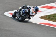 Superbike Drużynowy Suzuki Alstare Michel Fabrizio Zdjęcie Royalty Free