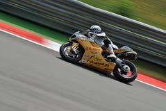 Superbike Effenbert Drużynowa swoboda Ściga się Ducati Sylvain Guintoli obrazy royalty free