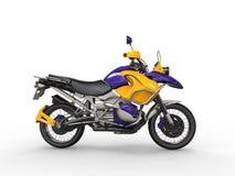 Superbike jaune pourpre impressionnant illustration libre de droits
