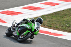 Superbike Kawasaki Team Pedercini Mark Aitchison royalty free stock images