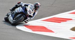 Superbike Marco Melandri мира Yamaha команды Superbike Стоковые Изображения RF